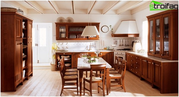 Kitchen in classical style -2
