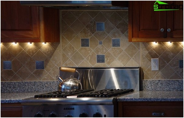 Tiles for kitchen (diagonal installation) - 2