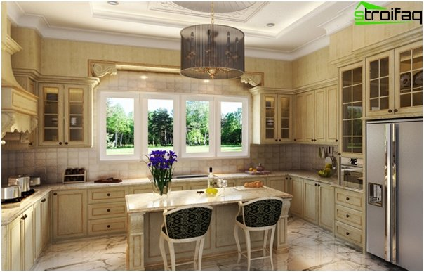 Kitchen in classical style -3
