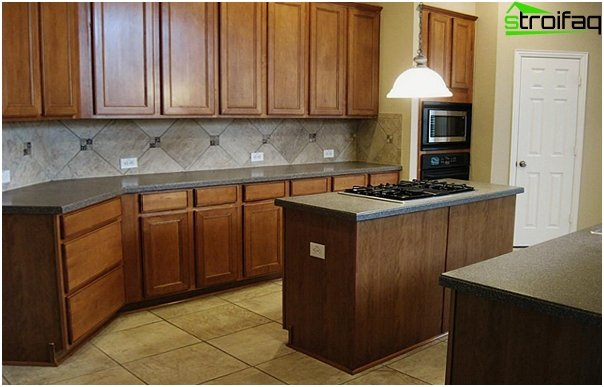 Tiles for kitchen (diagonal installation) - 4