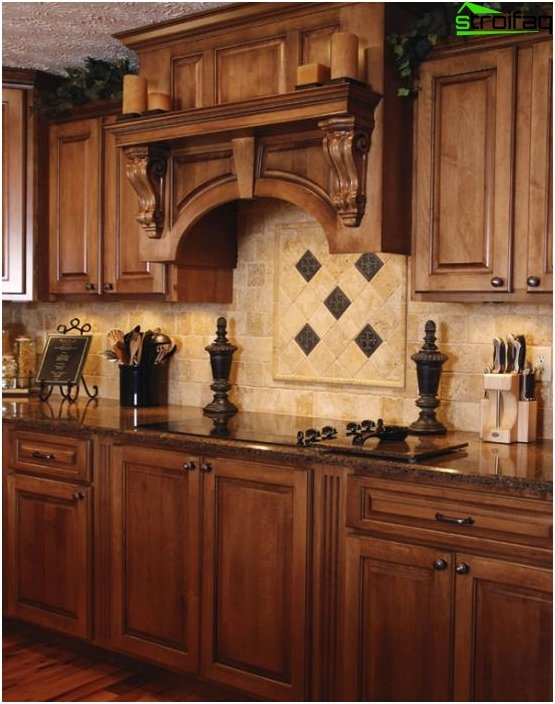 Kitchen in classical style -5