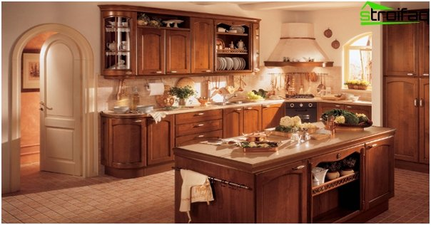 Kitchen in classical style -6
