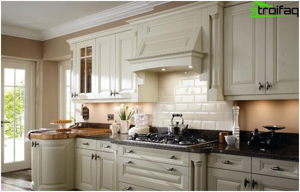 Kitchen in classical style -7