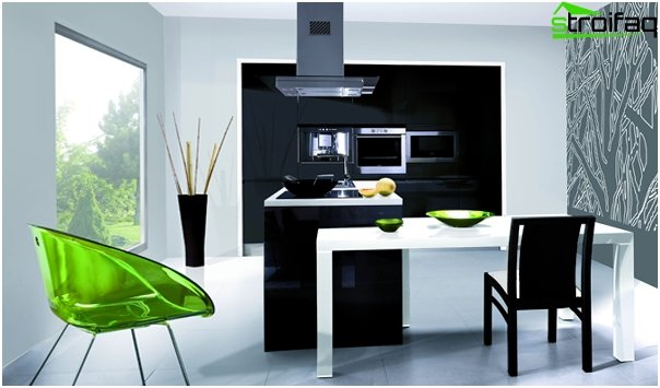 Kitchen in the style of minimalism -3