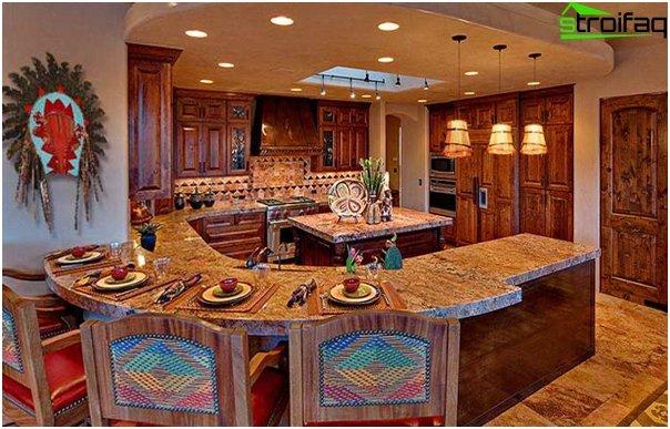 Кухня в этническом стиле -2