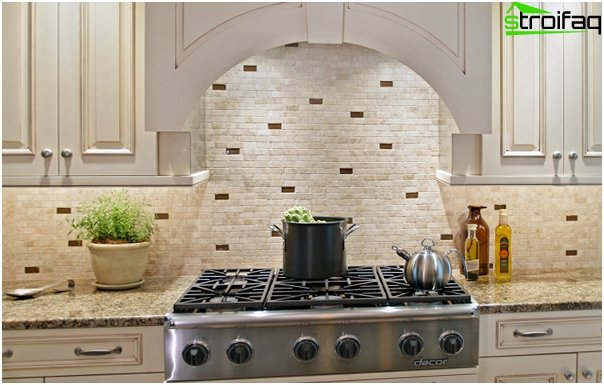 Tile in kitchen interior (brick laying) - 2