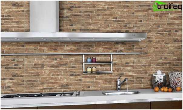 Tile in kitchen interior (brick laying) - 5