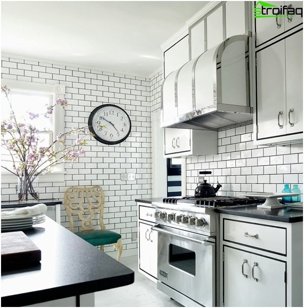 Tiles for kitchen (brick laying) - 2