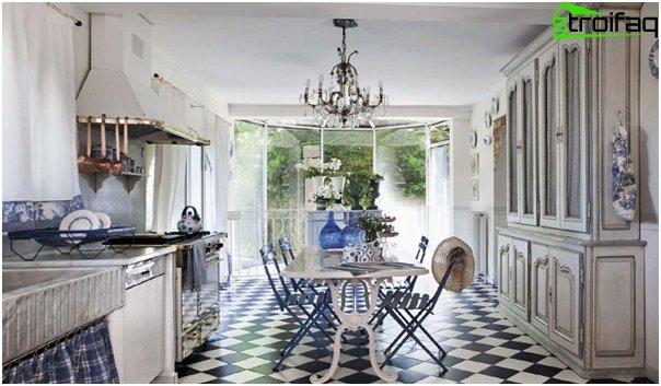 Кухня в стиле прованс-4