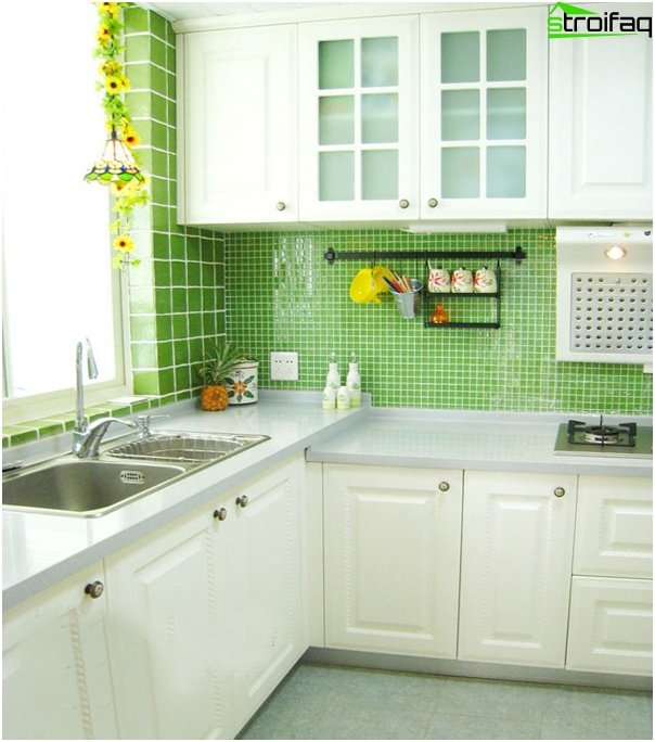 "Tile in kitchen interior (stacking ""seam in seam"") - 1"