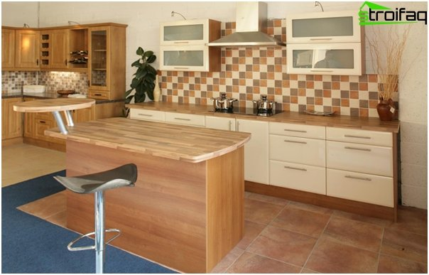 "Tile in kitchen interior (stacking ""seam in seam"") - 2"