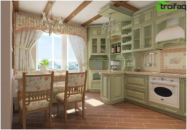 Кухня в стиле прованс-7