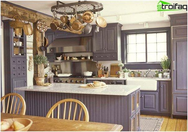 Кухня в стиле прованс-8