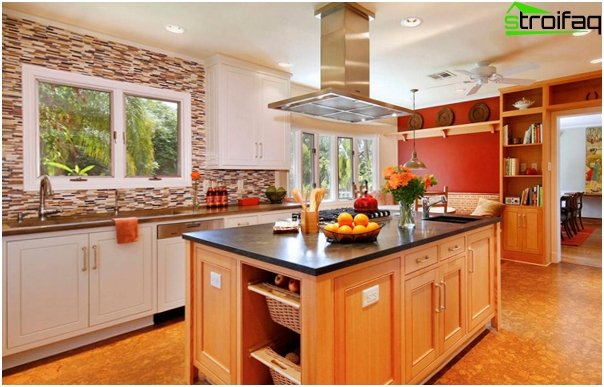Tile in kitchen interior (combining) - 2