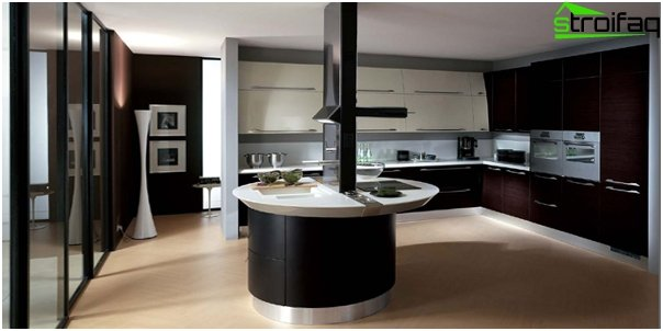 Kitchen in the style of hi-tech -2