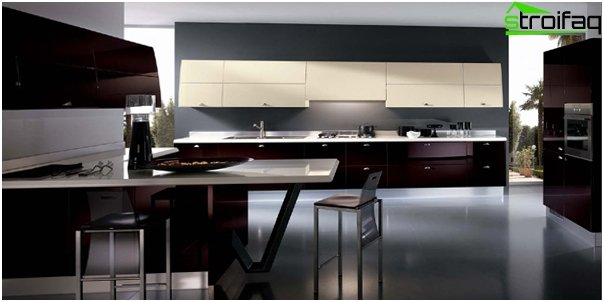 The kitchen in high-tech style - 5