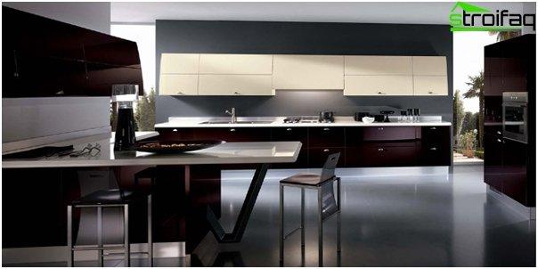 Кухня в стиле хай-тек-5