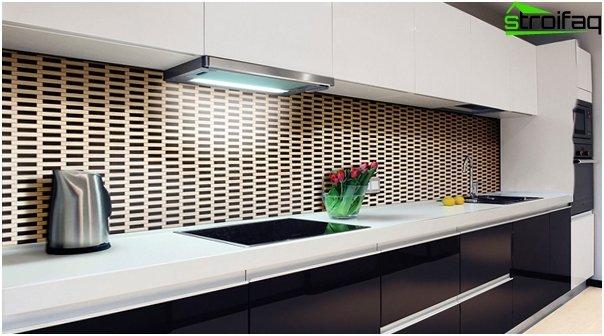 Tile in kitchen interior (apron) - 2