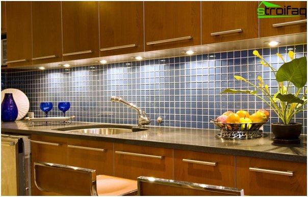 Tile in kitchen interior (apron) - 3