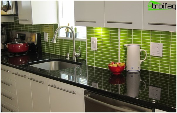 Tile in kitchen interior (apron) - 4
