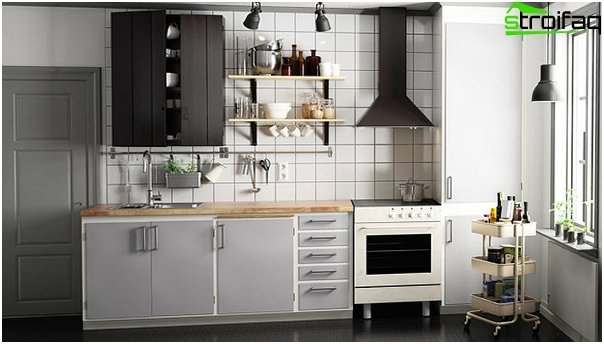 Linear kitchen from Ikea - 4
