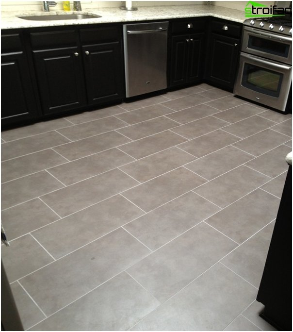 Tile in kitchen interior (floor) - 1