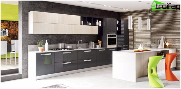 Kitchen furniture from Ikea (linear layout) - 3