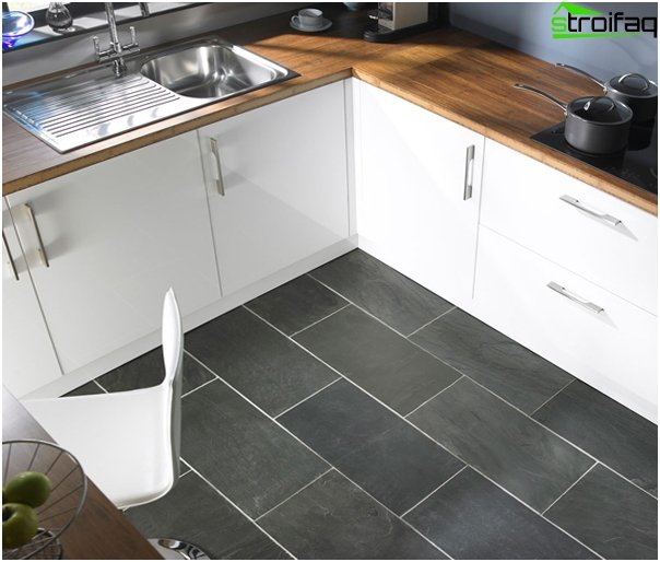 Tile in kitchen interior (floor) - 2