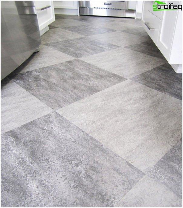Tile in kitchen interior (floor) - 3