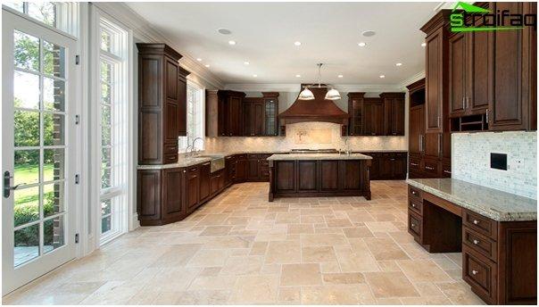 Tile in kitchen interior (floor) - 4
