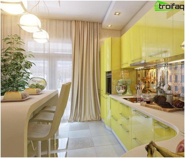 Кухня в желтом-2