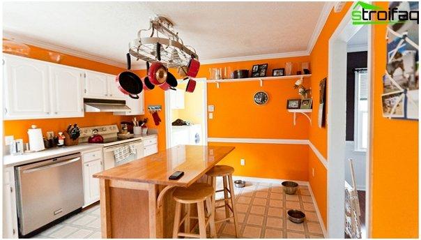 Кухня в желтых тонах-7