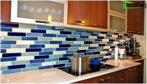 Tile in kitchen interior (with their hands) - 4