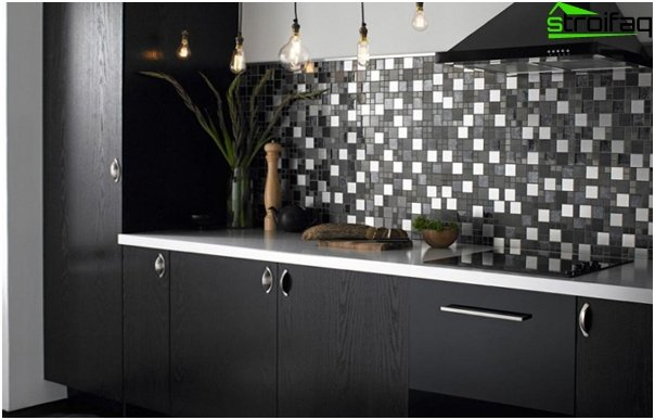 Tile in kitchen interior (with their hands) - 6