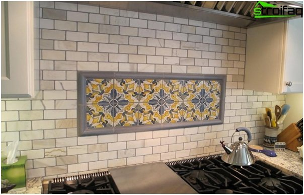 Tiles for kitchen (with their hands) - 1