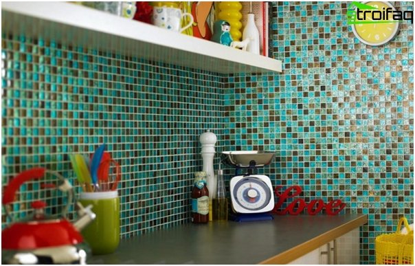 Tiles for kitchen (with their hands) - 2