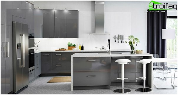 Kitchen furniture from Ikea (U-shaped layout) - 2