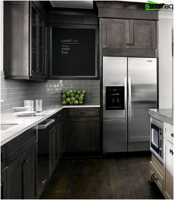 Kitchen furniture in dark colors - 7