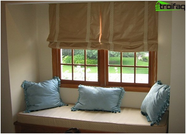 frameless Roman blinds - 1