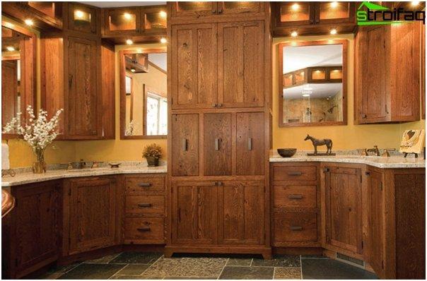 Кухонная мебель из дерева-3