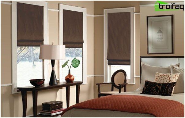 linen roman blinds - 1