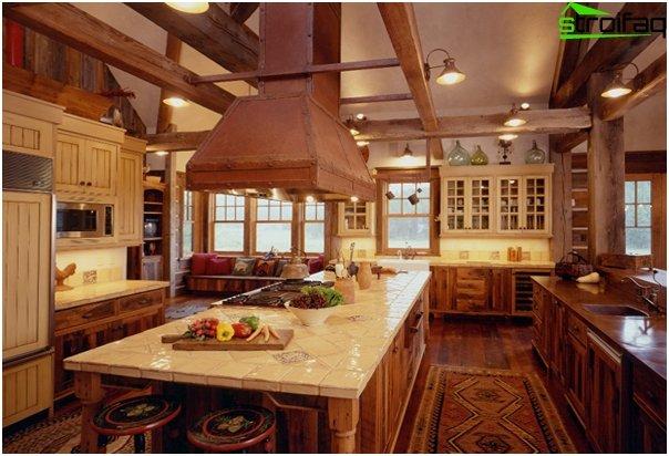 Кухонная мебель из дерева-5