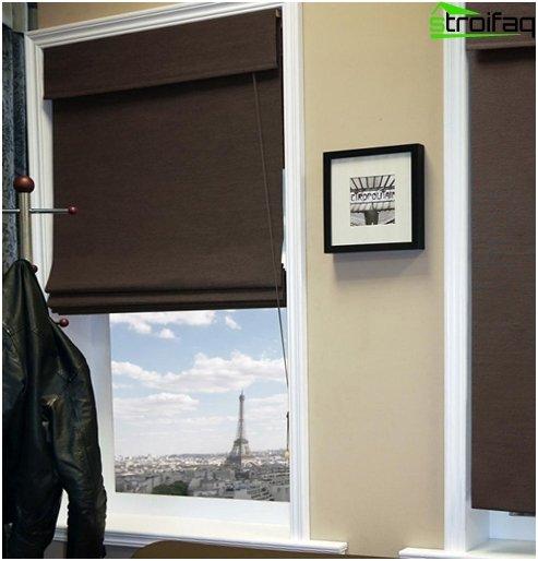 linen roman blinds - 2