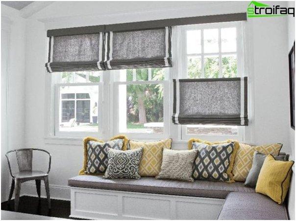 linen roman blinds - 3