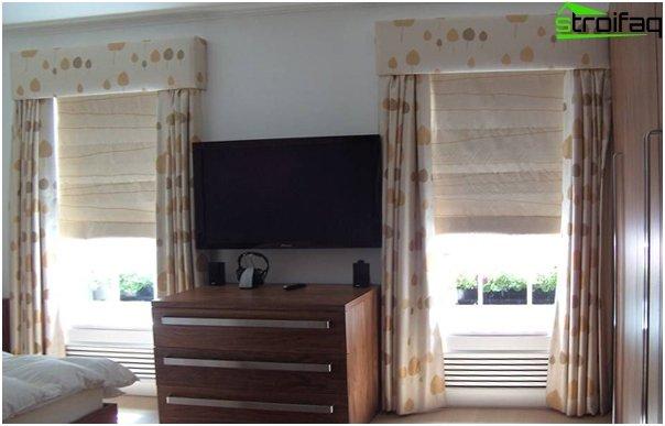 linen roman blinds - 5