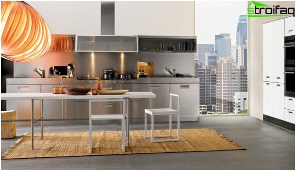 Мебель из металлической посуды-1