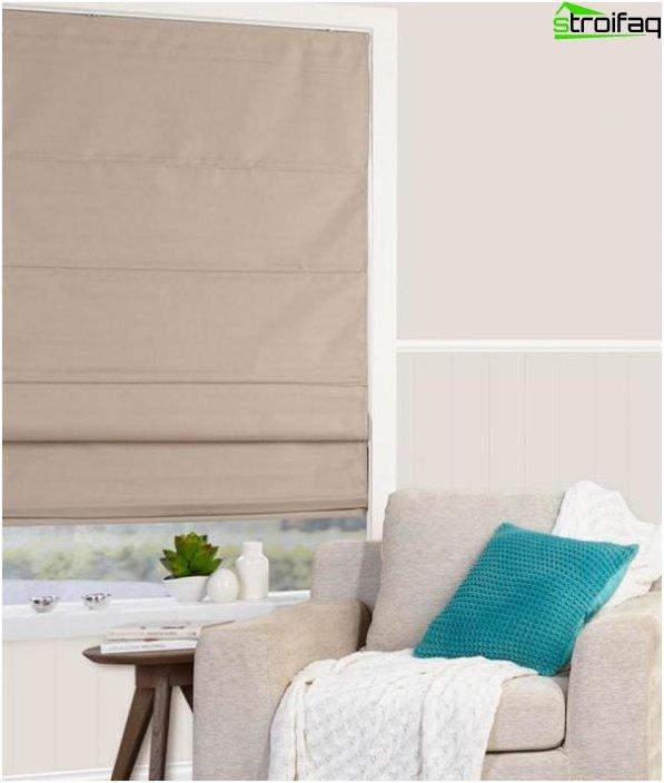 linen roman blinds - 7
