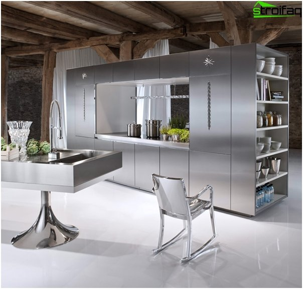 Kitchen furniture from -2 metal