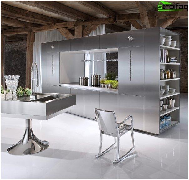 Кухонная мебель из металла -2