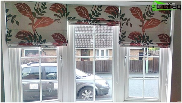 cotton Roman blinds - 2